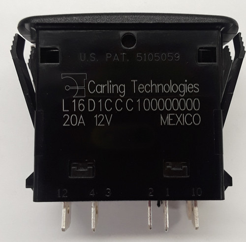 l series, carling, red leds, on off on, spdt, rocker switch, illuminated, L16D1CCC1