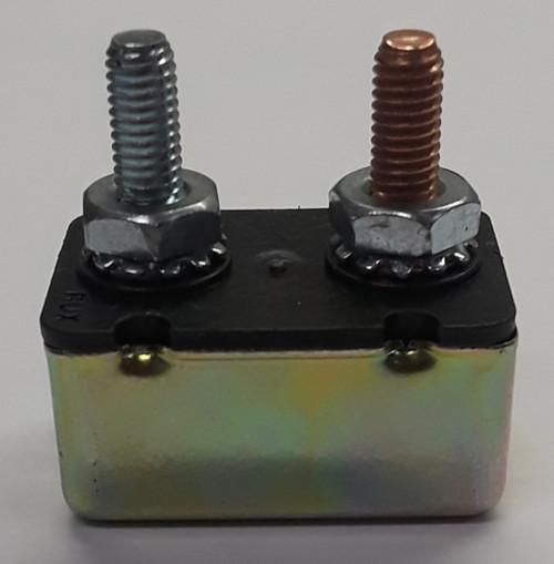 50 amps, circuit breaker, short stop, cooper bussmann, metal cover, stud terminals, type 1, auto reset, 121b50-00m-ka