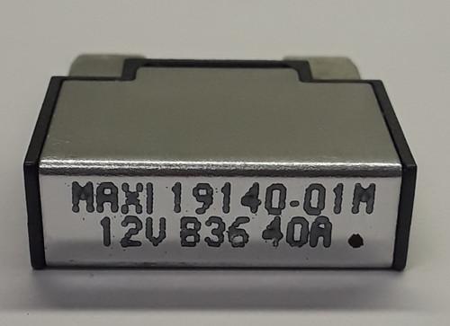 Eaton Bussmann, Maxi type circuit breaker, 40 amps, type 1, auto reset, maxi terminals, metal cover, miniature circuit breaker, 19140-01M