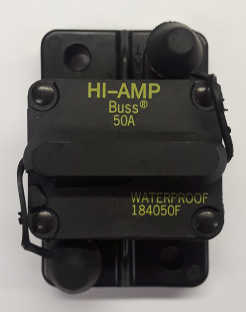 184050F-01-1, 50 amp, circuit breaker, surface mount, bussmann, 180 series,  manual reset