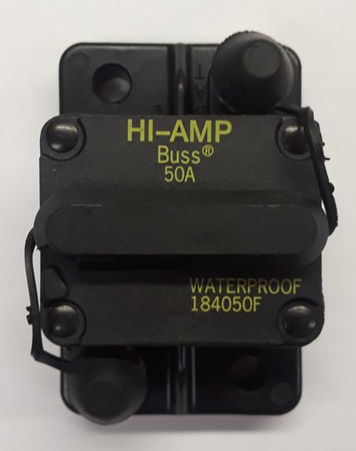 184050F-01-1, 50 amp, circuit breaker, surface mount, bussmann, 180 series,  manual reset