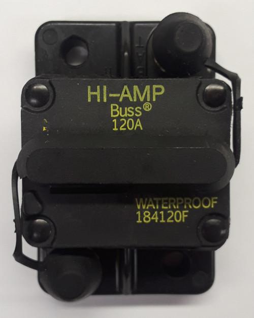 184120F-01-1, 120 amp, circuit breaker, surface mount, bussmann, 180 series, manual reset