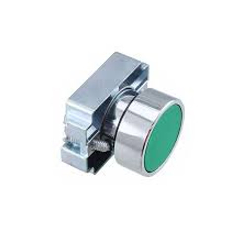 2AF3 Altech 22 mm Push Button Operator, Flush Green Button with Bracket