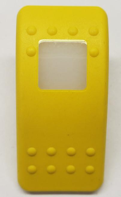 VVA9X00-000, Carling, V series, rocker switch cap, actuator, yellow, single white lens, contura 2