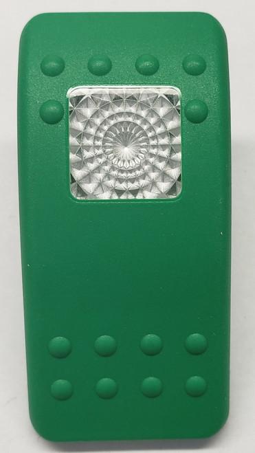 VVA4X00-000, Carling, V series, rocker switch cap, actuator, green, single clear lens, contura 2
