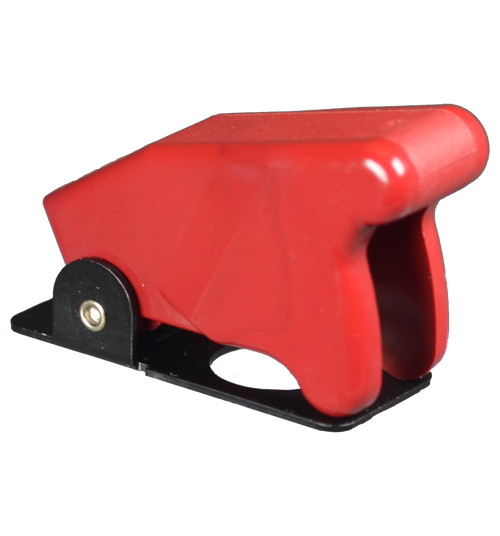 TG-00001, MS25224-1, red, toggle switch guard, military toggle switch guard, turns lever to off position