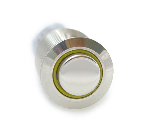 16 mm, sealed, anti vandal, push button, momentary, yellow ring, illuminated, 110 volt, ch2nesy110s, yellow illumination