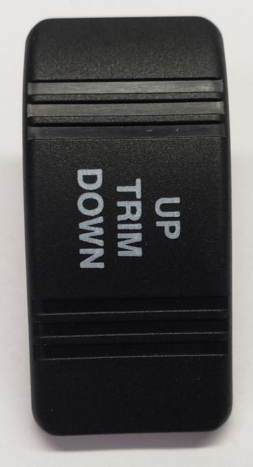 VVCZC00-Up Trim Down Carling Contura 3 Hard Black Actuator, no lens, Up Trim Down Imprint