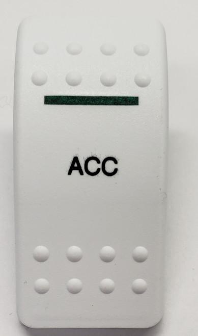 Carling, v series, hard white, 1 green bar lens, contura II, switch cap, actuator, VVAGY00-000, accessory icon