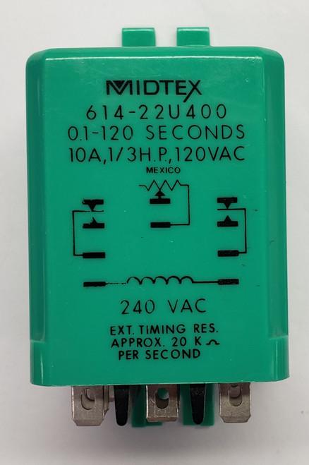 614-22U400 10 Amp Relay, Midtex, Te Connectivity, Green Case