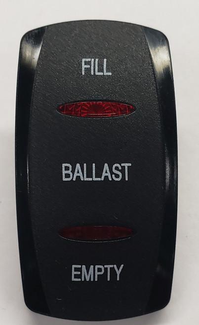 contura 5, carling, v series, rocker switch, actuator, switch cap, 2 red bar lens, ballast switch cap, VVGNCXX-1XX-XFBE1