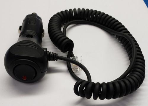 radar detector power plug, cigarette to rj11 socket, 6 feet long cord, on off switch with indicator light, 5531003-06