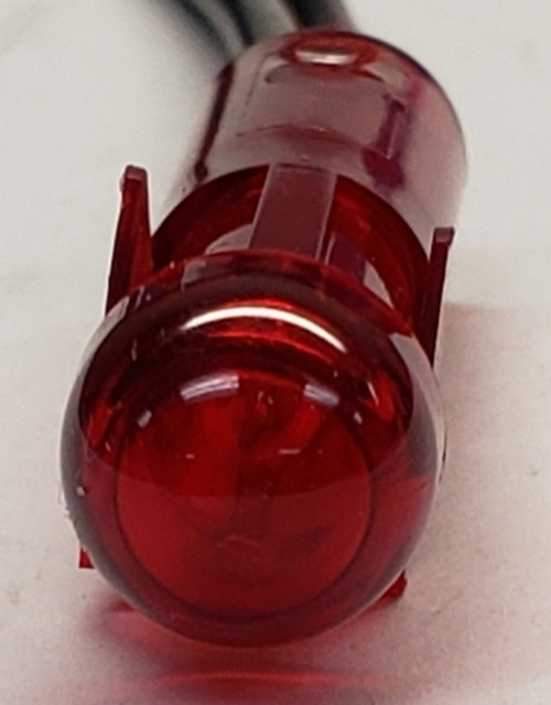 3535-1-00-25210, indicator light, round, 14 volt, red, incandescent, Solico,  panel mount indicator