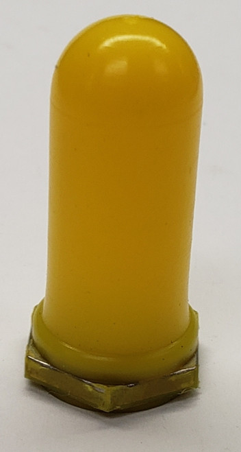 full extra tall toggle switch boot, yellow, protective switch cover, 15/32-32 thread
