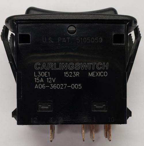 L30E1HXX1-3AAXX-1Z1-XPW1, A06-36027-005, 000-013-0005, 0675-000003-0005, Progressive Reversing Double Momentary Rocker with 1 Blue & 1 Green LED, Window Icon