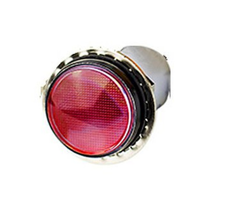 0.69 inch round indicator light, 12 volt red led, threaded round indicator light, sealed, PML50 seriers, vcc, IL12V-RD, 12 inch wire leads