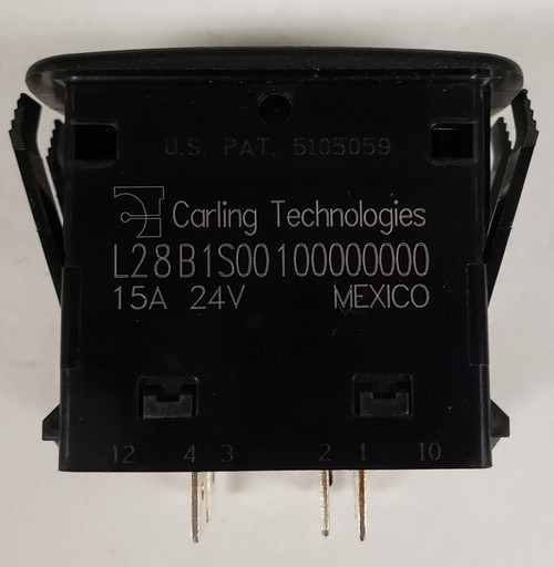 Carling, L series, dpdt, momentary, return to center off, spring loaded, L28B1S001, momentary rocker switch,2181,T2181,