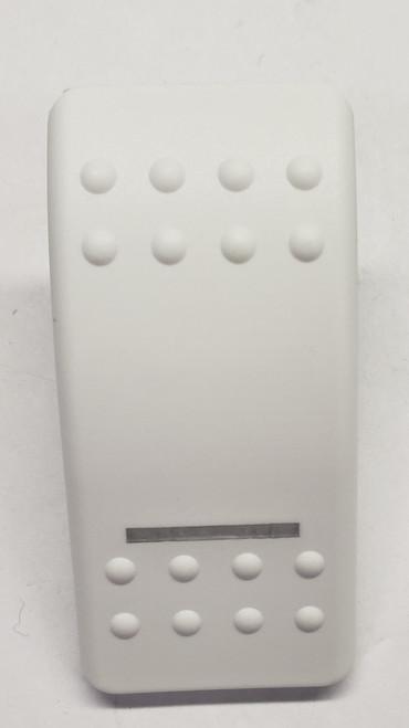 Carling, Actuator white hard, single clear lens, Contura II, rocker, VVA3Y00-000, switch cap