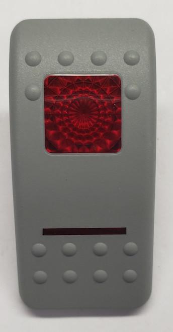 VVASH00-000, Carling, Contura 2, Hard Gray, Actuator, 1 red bar lens, 1 red square lens