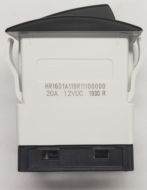 hr series, carling, halo rocker switch, blue halo, red leds, hr16d1a11br1-11-00000