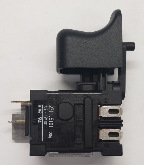 2711.5101, power tool switch, trigger switch, momentary power tool switch, normally open, Marquardt