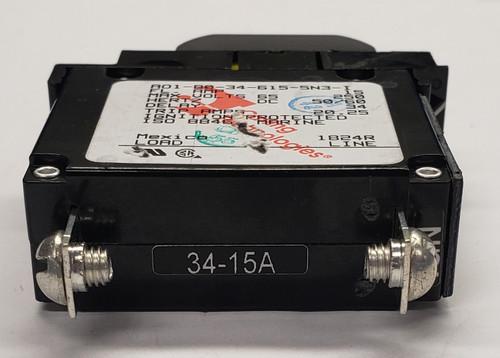 CARLING 80A 2 POLE CIRCUIT BREAKER CD2-B0-34-680-6F4-C ROCKER LEVER FLUSH