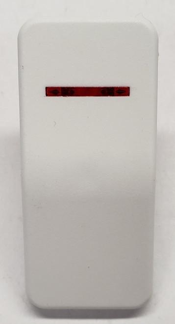 VV8PZ, Carling, hard white actuator, 1 red bar lens, contura X, rocker switch cap