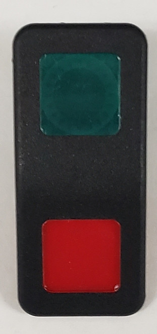Carling V Series Actuator, Hard Black, 1 Green & 1 Red Square Lens