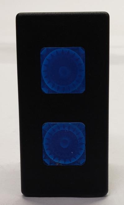 VP166-B11WW-00000 Carling Rectangular Double Blue Lens 12 Volt Indicator Light , incandescent, VP series,