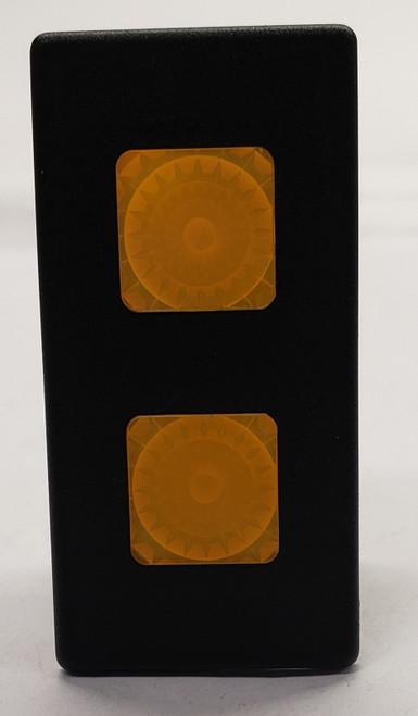 VP166-B11XX-00000 Carling Rectangular Double Yellow Lens 12 Volt Indicator Light , incandescent, VP series,