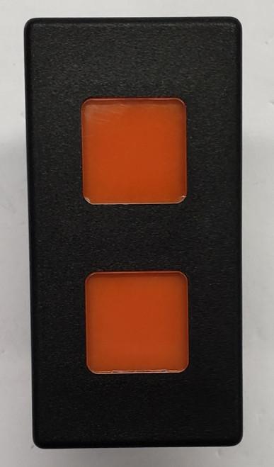 VP166-B11EE, 12 volt, indicator light, Carling, VP series, amber lens, incandescent, rectangular