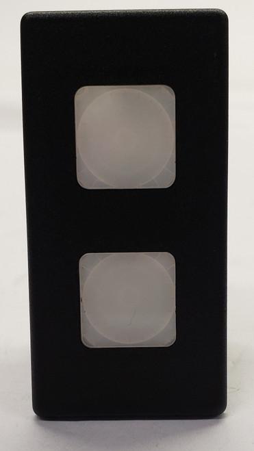 VP166-B1199, 12 volt, indicator light, Carling, VP series, white lens, incandescent, rectangular
