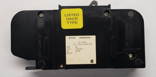 cf1-g3-u-0030-01a, heinemann, circuit breaker, eaton, cf1 series, magnetic breaker, 30 amps