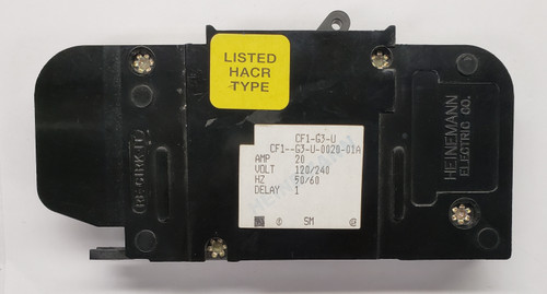 cf1-g3-u-0020-01a, heinemann, circuit breaker, eaton, cf1 series, magnetic breaker, 20 amps
