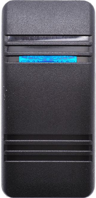 Carling, Contura 3, soft Black, Actuator, 1 blue bar lens, switch cap, v series, VVCTB00-000