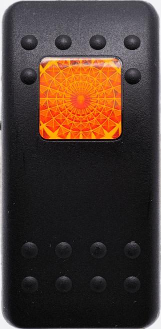 carling, v series, soft black, 1 amber square lens, VVAEB00-000, contura II, switch cap, actuator,31-0038