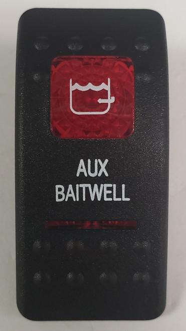 Carling V Series rocker switch cap, actuator, dual red lens, switch cap, marine, VVASCXX, 033-3218