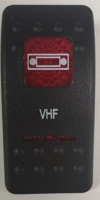 Carling V Series rocker switch cap, actuator, dual red lens, switch cap, marine, VVASCXX, 033-3234