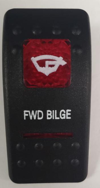 Carling V Series rocker switch cap, actuator, dual red lens, switch cap, marine, VVASCXX, 033-3225