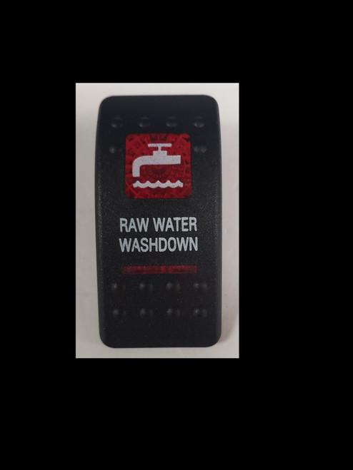Carling V Series rocker switch cap, actuator, dual red lens, switch cap, marine, VVASCXX, 033-3212