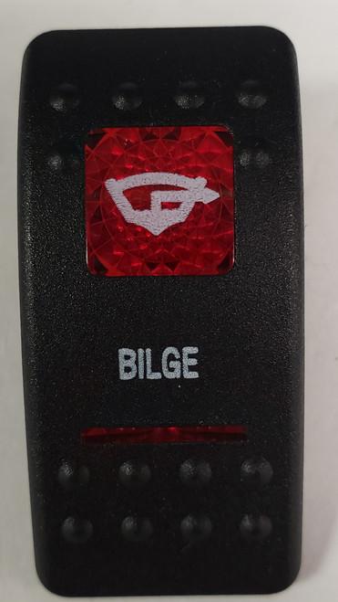 Carling V Series rocker switch cap, actuator, dual red lens, switch cap, marine, VVASCXX, 033-3203