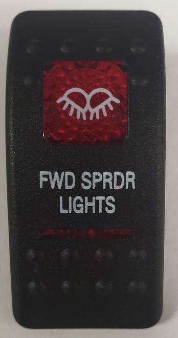 Carling V Series rocker switch cap, actuator, dual red lens, switch cap, marine, VVASCXX, 033-3211