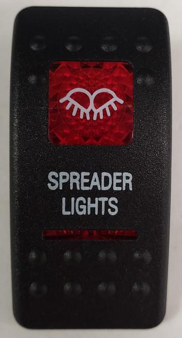 Carling V Series rocker switch cap, actuator, dual red lens, switch cap, marine, VVASCXX, 033-3222
