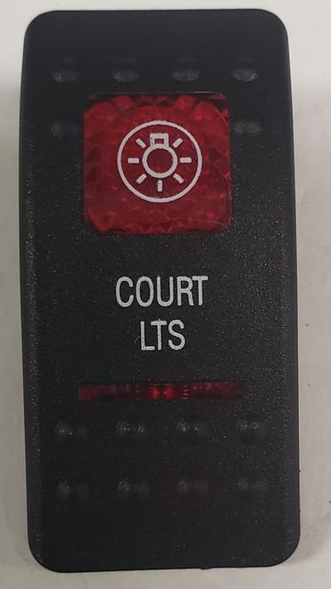 Carling V Series rocker switch cap, actuator, dual red lens, switch cap, marine, VVASCXX, 033-3216