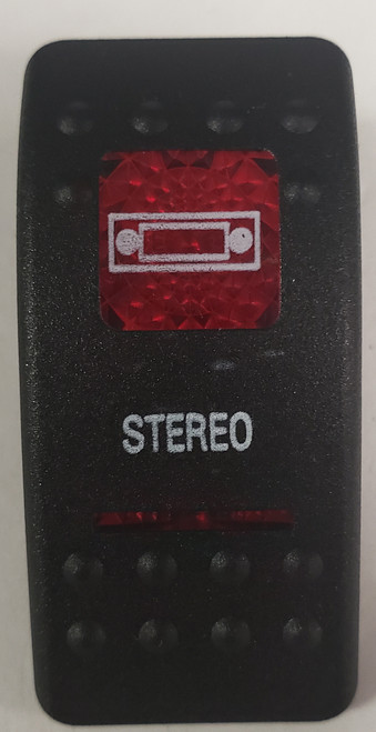 Carling V Series rocker switch cap, actuator, dual red lens, switch cap, marine, VVASCXX, 033-3231