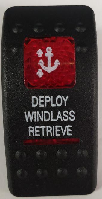 Carling V Series rocker switch cap, actuator, dual red lens, switch cap, marine, VVASCXX, 033-3226