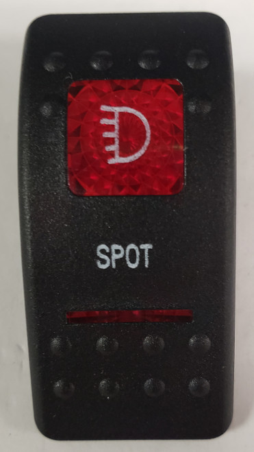 Carling V Series rocker switch cap, actuator, dual red lens, switch cap, marine, VVASCXX, 033-3229