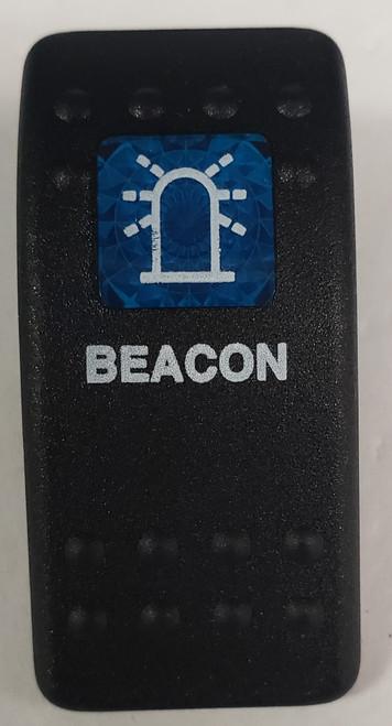 Carling, v series, hard black, 1 blue square lens, switch cap, actuator, VVAWCXX, Contura II, LL-7464-64