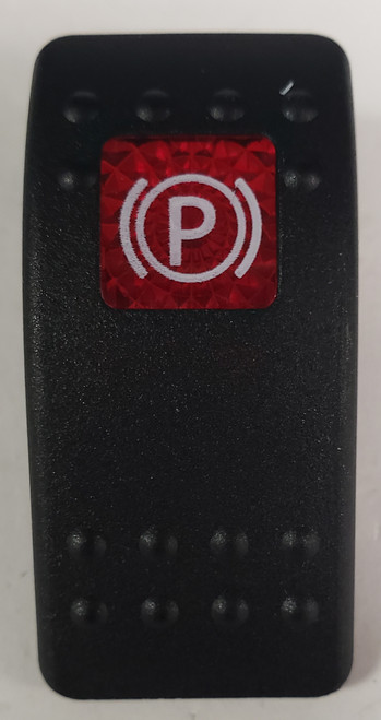 Carling V Series rocker switch cap, actuator, red lens, switch cap, marine, VVARCY3-100