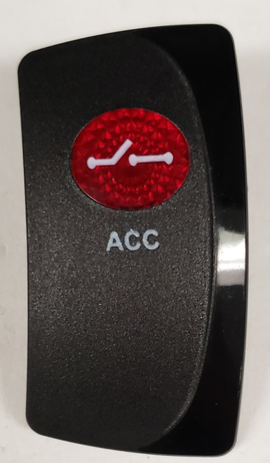carling, contura, v series, rocker switch actuator, switch cap, 1 round red lens, right orientation, VVFPC